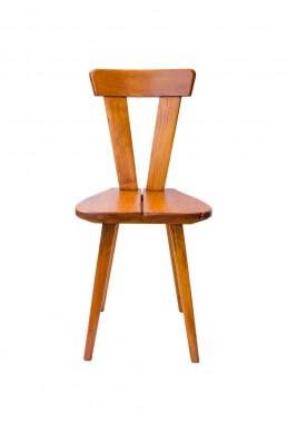 "Chair-stool of ŁAD Cooperative ""Zydel"" desgined by W. Wincze i O. Szlekys (pine wood)"