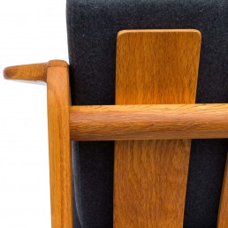 Armchair-oak designed by Z.Bączyk for ŁAD Cooperative