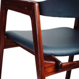 Fotel gabinetowy z drewna tekowego