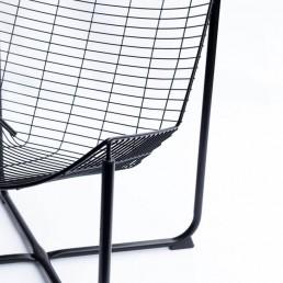 Fotel druciany RÅANE proj. Niels Gammelgaard dla IKEA (reedycja fotela JÄRPEN, 1983 r.)