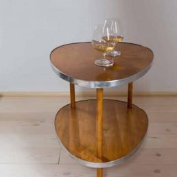 Liquor table on wheels