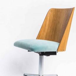 Krzesło obrotowe z NRD, lata 70te XX w.